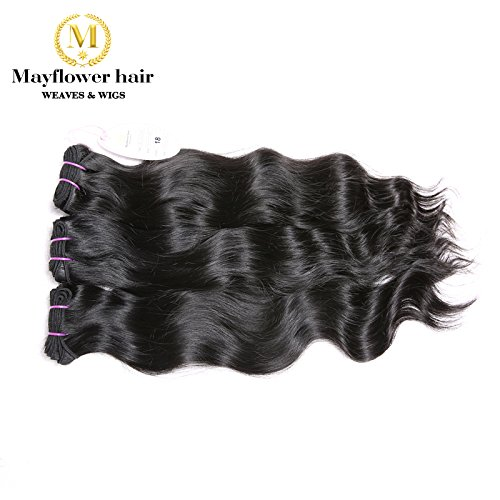 "Mayflower True Virgin Indian Hair Vendors Full Cuticle Raw Indian Hair Natural Wavy(3pcs 18"")"