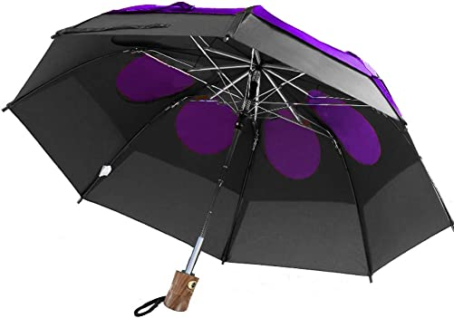 GustBuster LTD 43″ Canopy Auto Open/Close Wind Umbrella BLKPUR