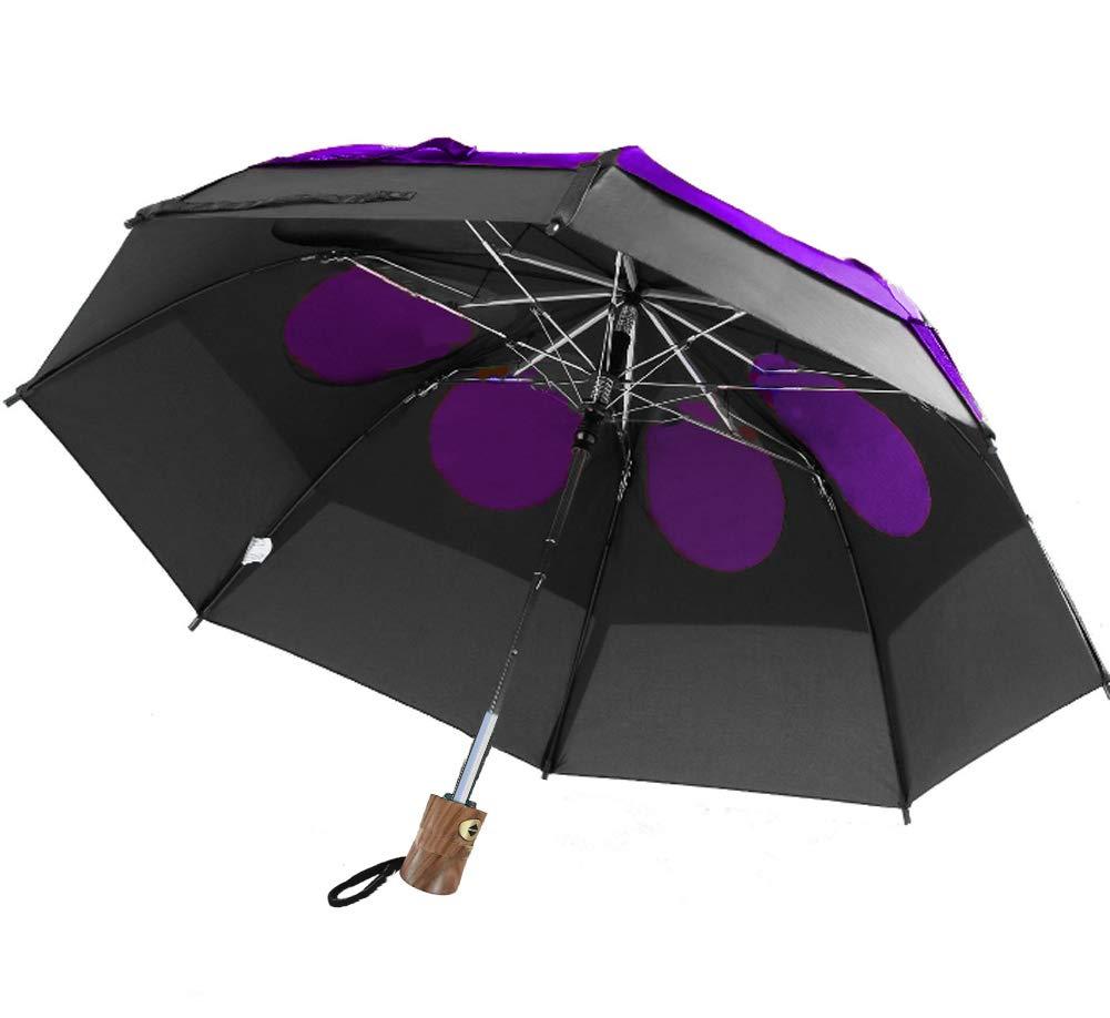 GustBuster LTD 43 Canopy Auto Open Close Wind Umbrella BLKPUR