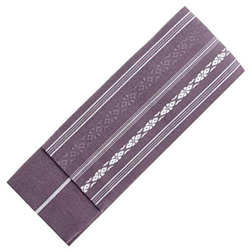 KYOETSU Men's Japanese Kaku Obi Kimono belt Cotton (Purple) ()