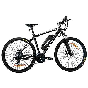 """Nilox - E-Bike X6 - Mountain Bike con Pedalata Assistita, Freni a Disco Tektro e Cambio da 21 Velocità, Pneumatici da 27.5"""" x 2.10"""", Batteria Removibile da 36 V – 11.6 Ah, Motore da 250 W"""