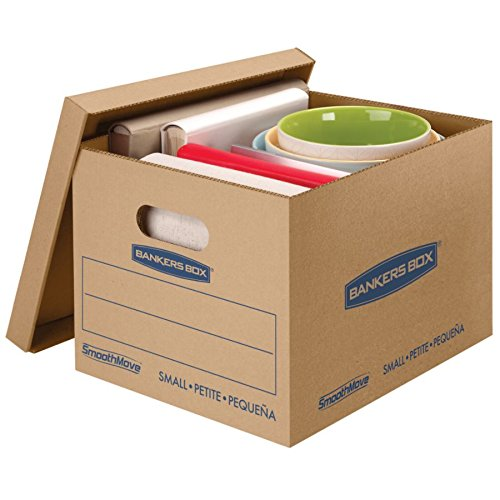 Bankers Box(R) SmoothMove Classic Moving Boxes, Small, 10in. x 12in. x 15in., 85% Recycled, Kraft, Pack Of 10