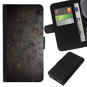 KLONGSHOP // Tirón de la caja Cartera de cuero con ranuras para tarjetas - Cosmos Pintura Universo pared rústica - LG OPTIMUS L90 //