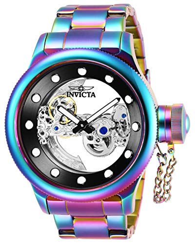 Invicta Men's Russian Diver Automatic-self-Wind Watch with Stainless-Steel Strap, Multi, 26 (Model: 26273) (Bridge Watch Automatic)