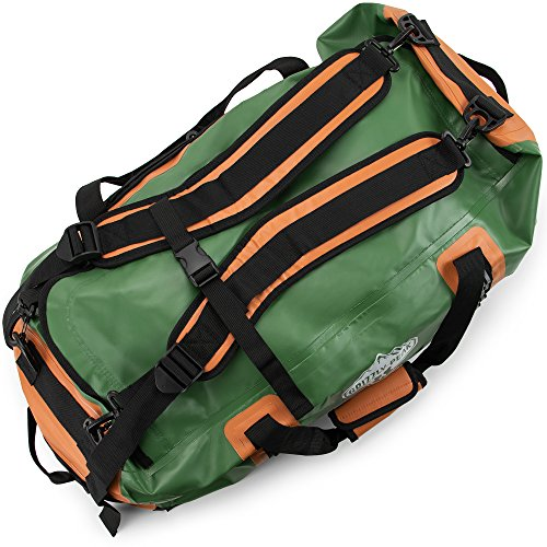Grizzly Peak Dri-Tech Waterproof Dry Duffle Bag, IP 65 Lightweight Roll-Top Dry Bag with Backpacking Shoulder Straps & 4 Extra Pockets – Protects Personal Belongings by Grizzly Peak (Image #1)