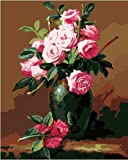 0300 numbers - Diy oil painting, paint by number kit- Rose fragrance 1620 inch.