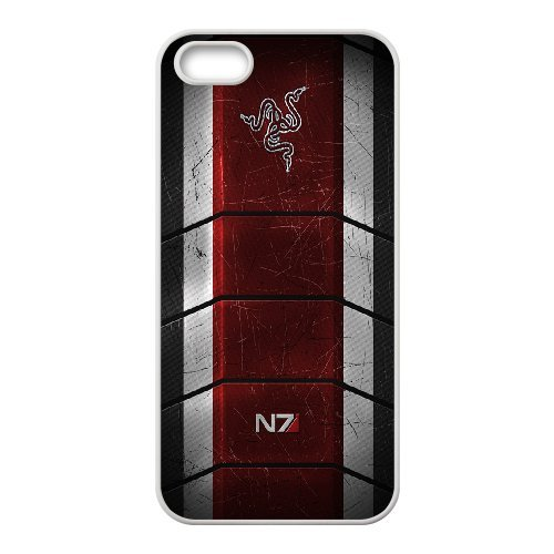 Mass Effect N7 Phone Case And One Free Tempered-Glass Screen Protector For iPhone 5,5S T258148