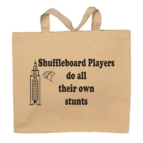 Shuffleboard Players Do All Their Own Stunts Totebag Bag by T-ShirtFrenzy