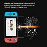 GamesBunds Switch Screen Protector [2-Pack], Premium 0.26mm Ultra Thin 9H Tempered Glass Screen Protector HD Clear Bubble-Free Protective Film for Nintendo Switch Console (2.5D Edge)