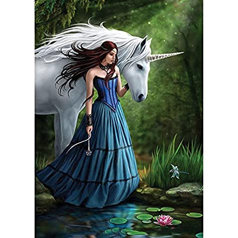 Olibay 5D DIY Diamond Painting Beauty With Unicorn Cross Stitch Crystals Embroidery Home Decor Craft Christmas Gift - Crystal Unicorn