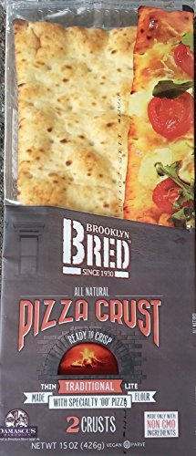 Brooklyn Bred (Bread) All Natural Pizza Crust Non GMO Pack of 3 Vegan Kosher Organic