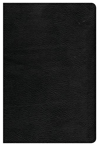 - CSB Single-Column Personal Size Bible, Black LeatherTouch