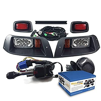 RecPro EZGO TXT GOLF CART DELUXE Street Legal ALL LED Light Kit 1996-2013
