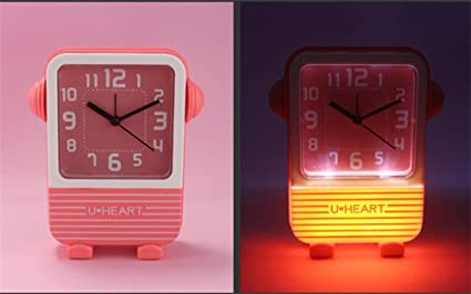 Lámpara de escritorio poco reloj/mute reloj digital simple de caramelo , red