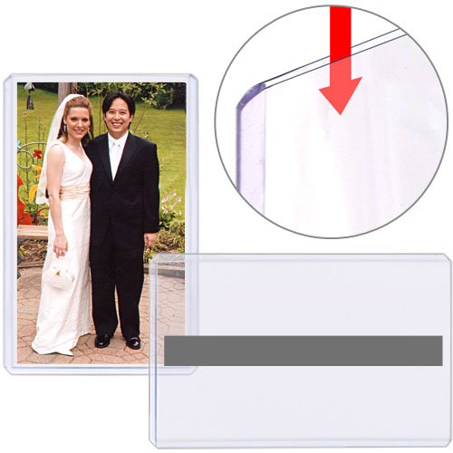 """StoreSMART - Rigid Print Protectors - Magnetic - 25-Pack - 3.5"""" x 5"""" - Photos, Trading Cards, Index Cards - Toploaders - HPP312X5M-25"""