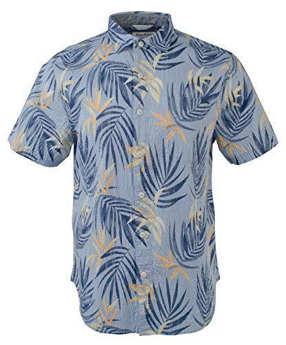 (Tommy Bahama Men's Fiesta Fronds Stretch Camp Shirt-FB-S)