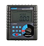 ETCR3000 Digital Grounding Resistance Meter with Data Storage Function Resistance Range 0.01 to 2000 Ohm Grounding Voltage Range AC 0 to 600V Grounding Earth Resistance Tester with LCD Display