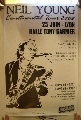 Amazon.com: Neil Young June 25th 2008 German Tour Poster ...