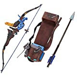 Mtxc Overwatch Cosplay Hanzo Bow & arrow & Quiver Young Master Ver.Brown