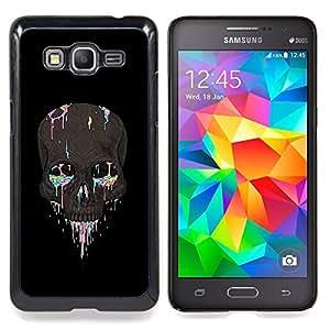 /Skull Market/ - Rainbow Skull Paint Artist Rock Biker For Samsung Galaxy Grand Prime G530H G5308 - Mano cubierta de la caja pintada de encargo de lujo -