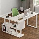 Desk Printer - Tribesigns Modern L-Shaped Desk, 55