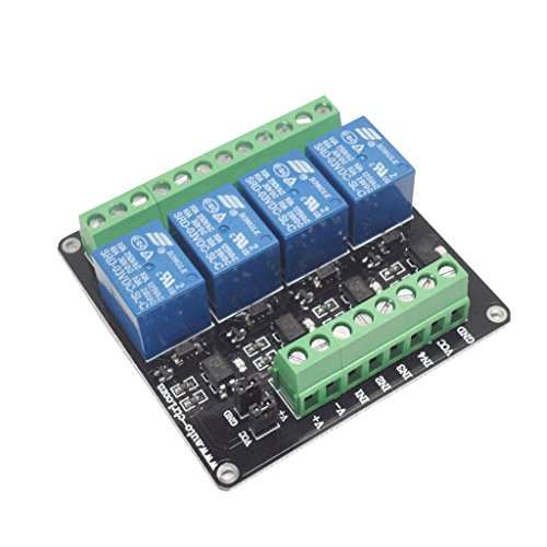 Baoblaze DC3V 4-Channel Relay Module with Optocoupler Isolation Output Signal Indication