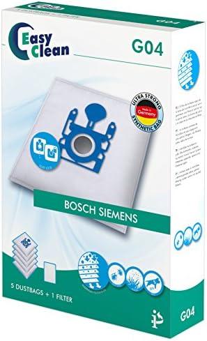 EasyClean EC-0G04 - Pack de 5 bolsas de polvo de microfibra y 1 ...