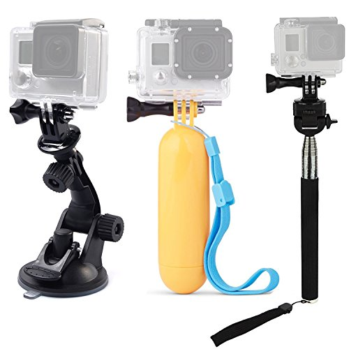 TEKCAM Action Camera Accessories Kits Bundle Compatible for Gopro Hero 7 6/AKASO...