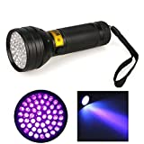 YYGIFT Multi-function 395 nM 51 UV Ultraviolet LED flashlight Blacklight for Spotting Scorpions Bed Bugs Insects Critters and Dog Cat Urine Stains Funny Gifts
