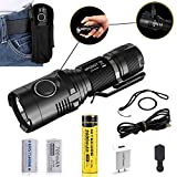 Bundle: Nitecore MH20GT CREE XP-L HI V3 414 Yards 1000 Lumens USB Rechargeable EDC Flashlight by 2600mAh 18650 With 2PCs 700mAh EASTSHINE E07 16340 Li-ion Batteries
