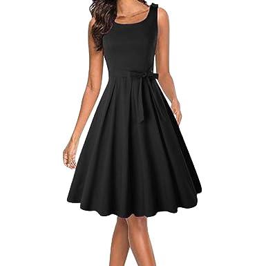 Amazon Com Nihewoo Women S Sleeveless Cocktail A Line Dress Party