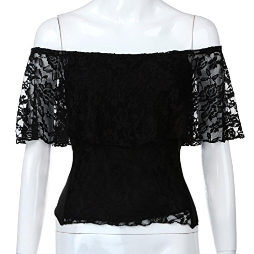 426b2aa58f09dc Amazon.com  Fheaven Hot Sale Summer Womens Sexy Lace Backless Off Shoulder  Bow Bandage Back Low Cut T-shirt Tops (2XL