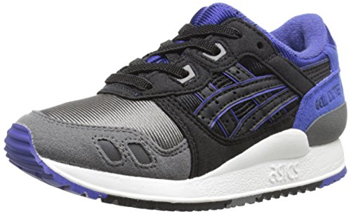 Price comparison product image ASICS Tiger Gel Lyte III PS Retro Running Shoe (Toddler/Little Kid), Black/Black, 11 M US Little Kid