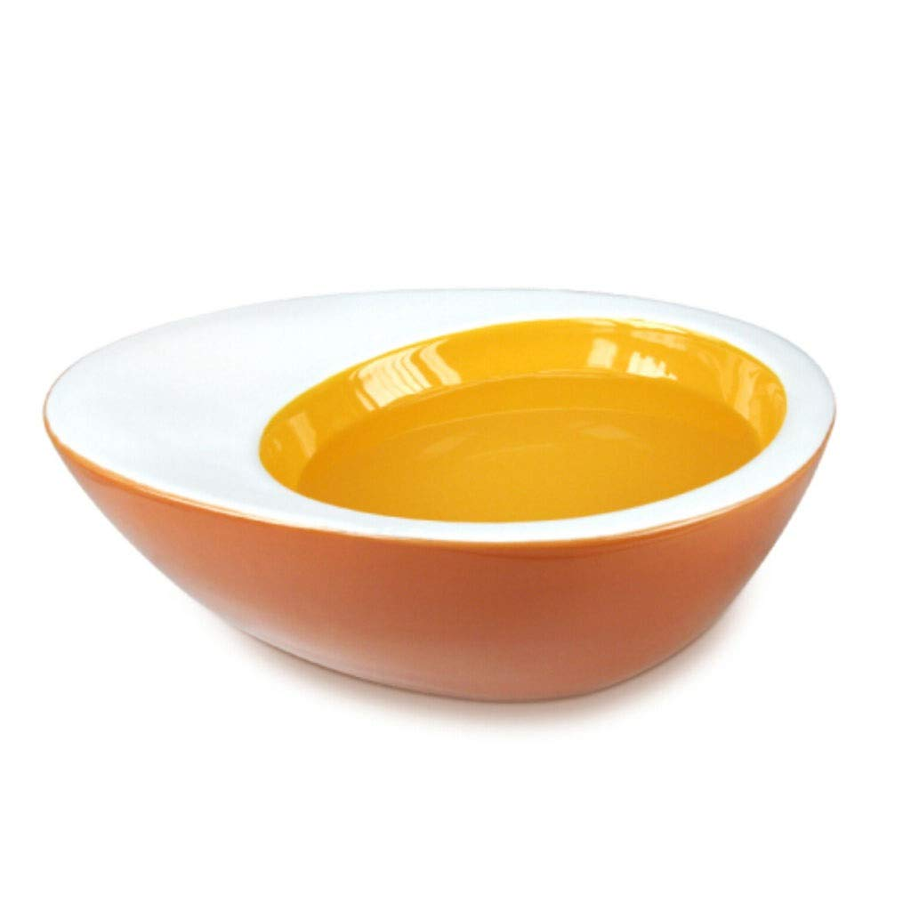 Onnear Egg Shaped Porcelain Pet Bowl,Elevated Feeding Stations,No Spill Non-Skid,Suitable for Cats or Small Dogs,for Dry or Wet Food
