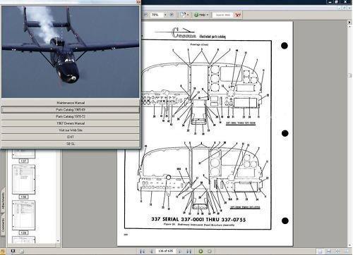 - Cessna 337 Service Maintenance Manual Set + Engine 1973-80