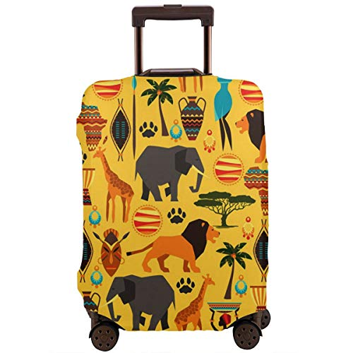 MKJIH Africa Zoo Animals Travel Suitcase Protector Zipper Suitcase Cover Baggage Suitcase Protector Cover Fit 18-32 Inch ()
