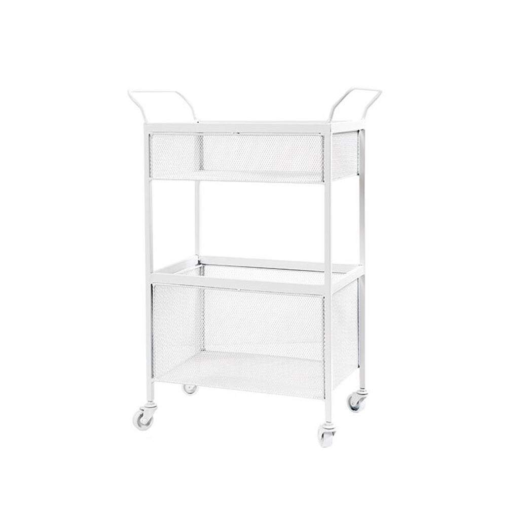 White 15.7410.0327.95in JCAFA Shelves Iron Rack Storage Cart Bedroom Bedside Living Room Floor-Standing Multi-Layer Storage Rack with Armrest Pulley Move More Easily (color   Light Green, Size   15.74  10.03  27.95in)