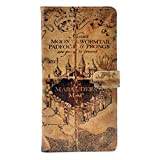 LG G7/LG G7 ThinQ Case, Hogwarts Marauder's Map Vintage Pattern Leather Wallet Credit Card Holder Flip Stand Cover Case For LG G7 ThinQ (2018)