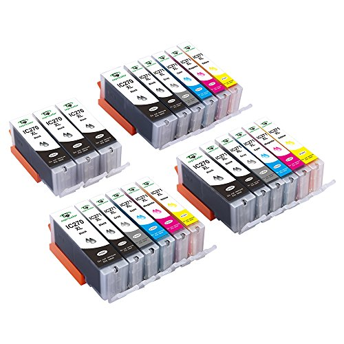 PGI-270XL CLI-271XL Ink Cartridges, Supricolor Compatible 270 271 Ink Cartridges for Use with Pixma MG7720 TS8020 TS9020 Printers - 3 Sets + 3 PGBK W/Gray (6PGBK 3Bk 3C 3M 3Y 3GY) by Supricolor