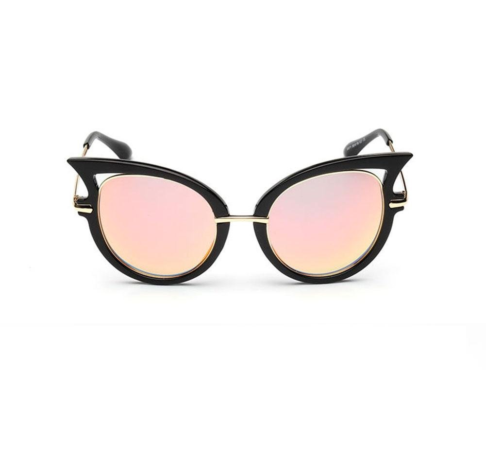 Alger Gafas de sol Ojo de gato Estructura metálica Tendencia anti-UV Conducción de viaje Street beat Gafas, B