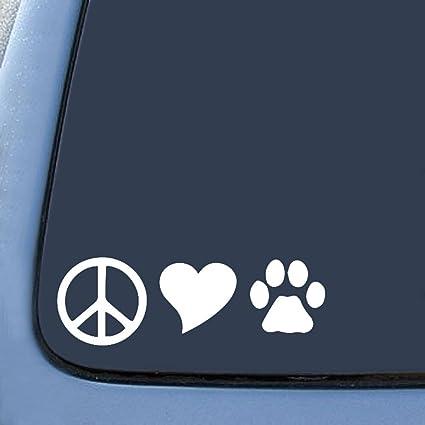 Peace love dogs sticker decal notebook car laptop 6