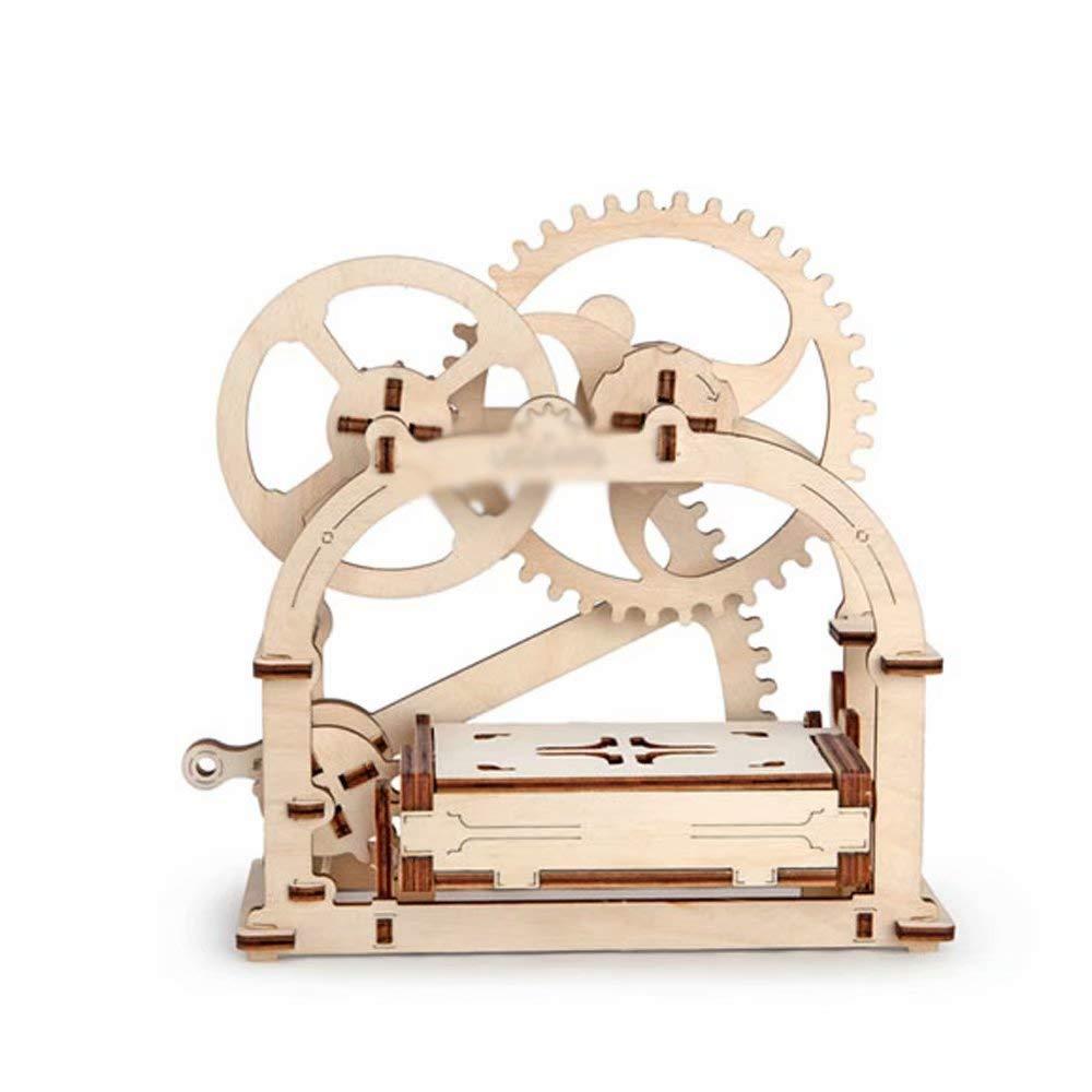 Hölzerne mechanische Übertragung Montage Modell Wissenschaft Spielzeug dreidimensionale Puzzle Kinder Geschenk (Visitenkartenhalter) B07L9Z7GDN 3D-Puzzles Große Klassifizierung   | Lebensecht