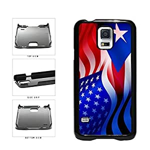 Puerto Rico and USA Mixed Flag Plastic Phone Case Back Cover Samsung Galaxy S5 I9600