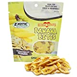 Banana Bites (5.5 oz.) - Healthy Natural Dried Fruit Treat - For Chinchillas, Ferrets, Parrots, Hamsters, Squirrels, Hedgehogs, Guinea Pigs, Rabbits, Prairie Dogs, Degus & Other Small Pets