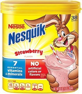 Nesquik Powder Strawberry Breakfast Drink 1 Lbs. (Pack of 2)