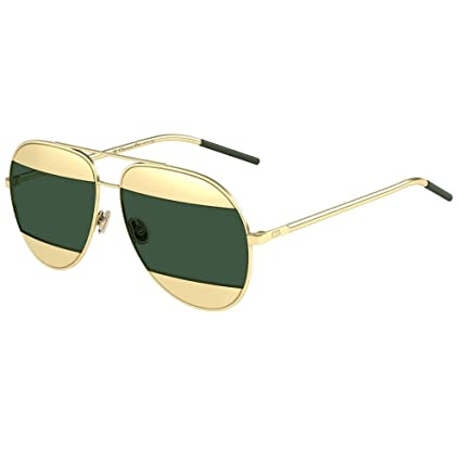 a95bf71d7c1e Image Unavailable. Image not available for. Color  Dior Christian Split 1  Rose Gold with Green Lenses Color 000 85 ...