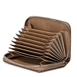 Womens Geniune Leather Credit Cards Wallet Solid ID Cards Holder Clutch handbag for Women