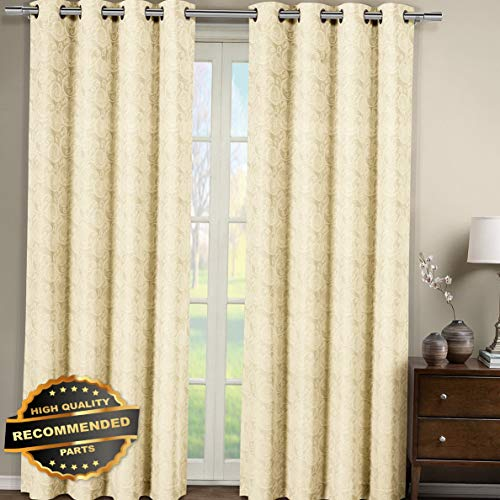 Gatton Tabitha Jacquard Grommet Top Curtain Panel (Single) Paisley Pattern | Style WNDWSCURT-01120191 | 54 x 84 $17.99