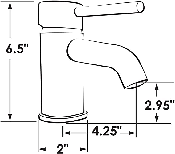 97830-NI Manufacturers Select ITC Contempo 6.5 Sleek Brushed Nickel RV or Boat Kitchen//Galley Faucet RV or Boat Sink Faucet with Single Lever Handle