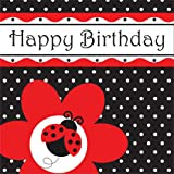 Creative Converting Marienkäfer Fancy Happy Birthday Servietten, 16Stück